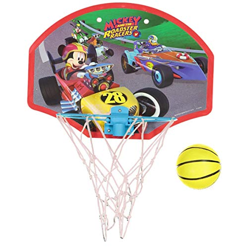 - KidPlay Products Mickey and The Roadsters Kids Basketball Hoop