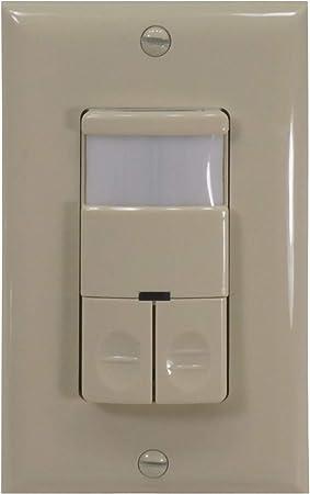 nicor iluminación interruptor de pared ocupación/Sensor de movimiento con doble relé, marfil (dos180lp-div): Amazon.es: Bricolaje y herramientas