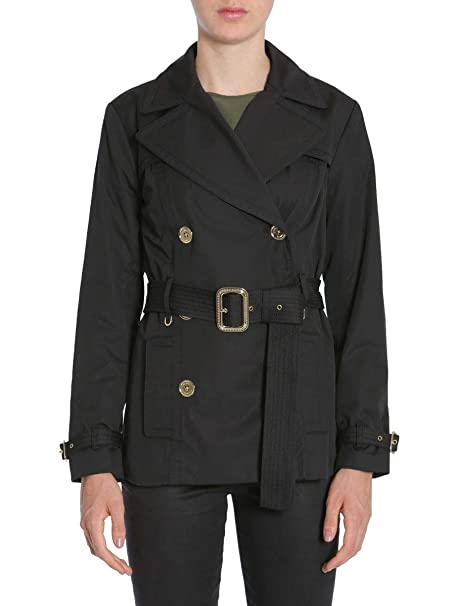 MICHAEL BY MICHAEL KORS Mujer Mu72hpvx36001 Negro Algodon Trench Coat: Amazon.es: Ropa y accesorios