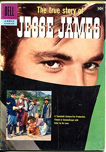 True Story of Jesse James-Four Color Comics #757 1957-Dell-Robert Wagner-VG/FN