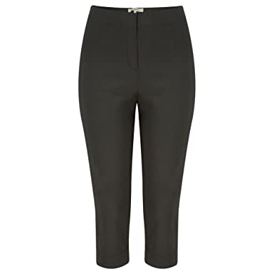 dfb7623e Sandwich Clothing - Stretch Cropped Casual Trouser, Almost Black, 18 (44):  Amazon.co.uk: Clothing