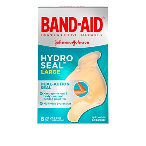 Band Aid Gel - Band-Aid Hydro Seal, 6 Large Bandages Per Box (Pack of 2)