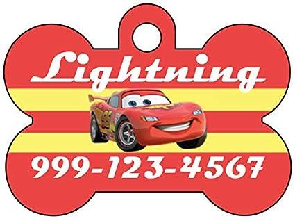 Amazon com : uDesignUSA Disney Cars Lightning McQueen Pet Id