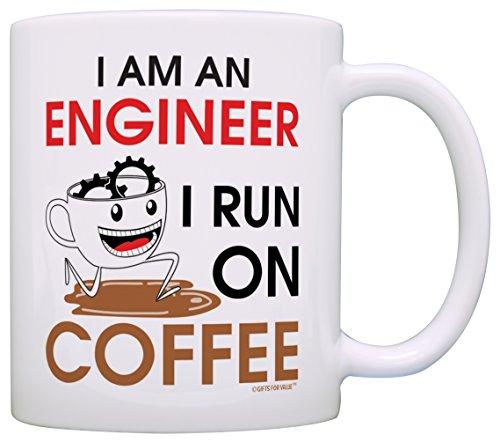 Coffee Lovers Engineer Grandpa White product image