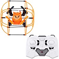 RC Quadcopter Helicopter Mini Drone Helic 1336 MINI Sky Walker RC Four-axis Quadcopter 3D Flip Climbing Wall Roller Headless Drone RC toys(USB) (Orange)