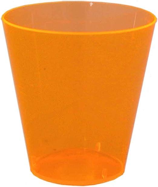 Party Essentials Hard Plastic 2-Ounce Shot//Shooter Glasses 50 Count NW Enterprises Toys N25055 Neon Orange