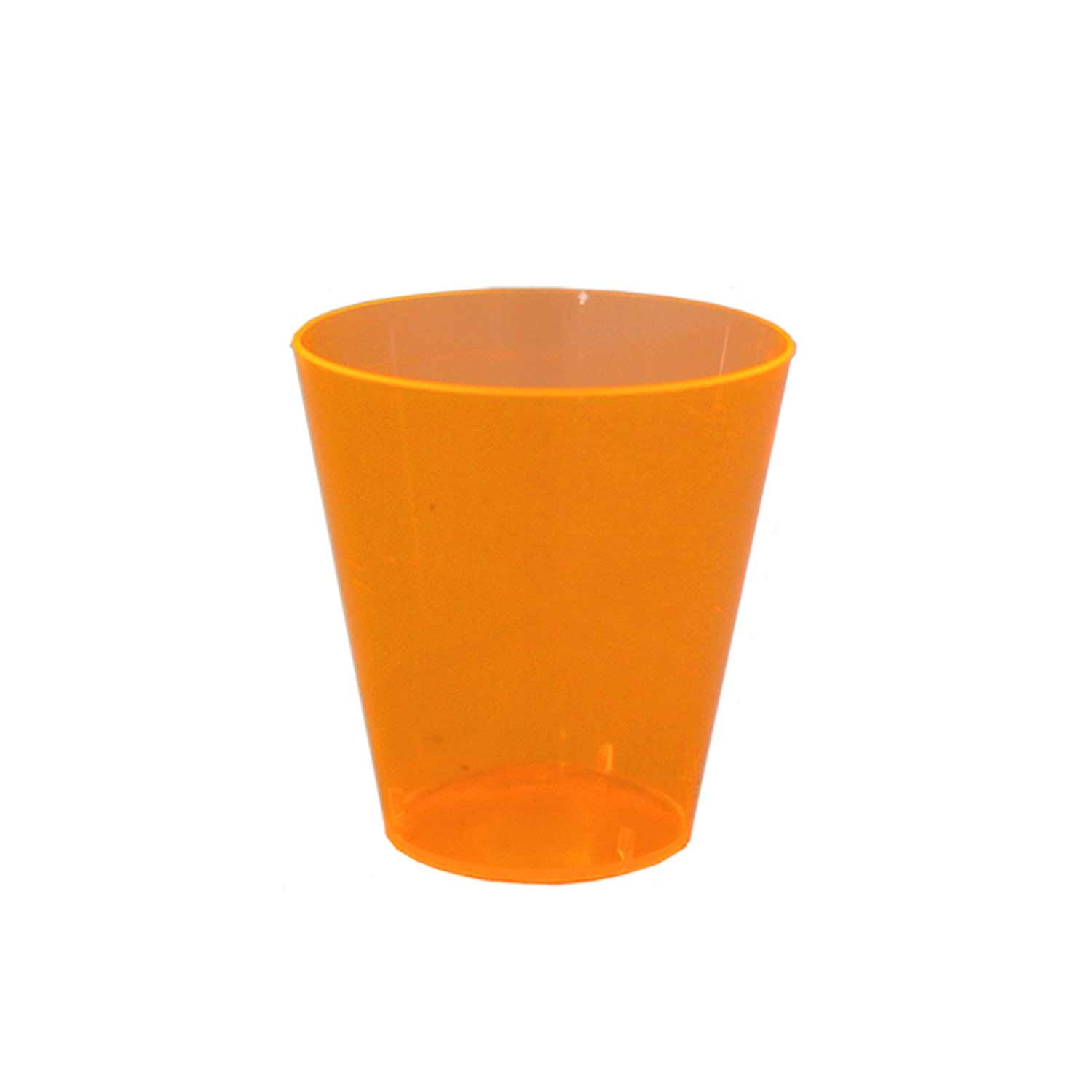 Party Essentials N25055 Brights Plastic Shot Glass, 2 oz. Capacity, Neon Orange (20 Packs of 50) by Party Essentials