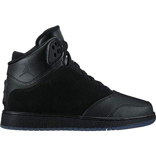 NIKE BAMBINI Jordan 1 Flight 5 Premium BG nero pelle Scarpe ...