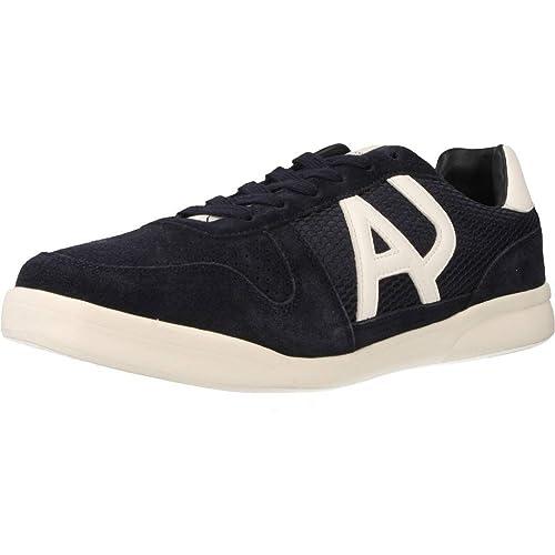 Emporio Armani Zapatillas de Deporte Para Hombre, Azul (Azul Marino), 41 EU: Amazon.es: Zapatos y complementos