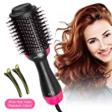 Hair Dryer Brush, AmyHomie One Step Hair Dryer & Styler Volumizer 3 In 1 Negative Ions Straightening Hot Air Brush Get Salon Blowout At Home (Pink)
