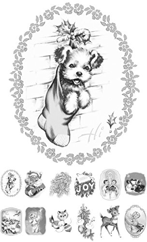 (Adult Coloring Grayscale Cards (24 cards 4