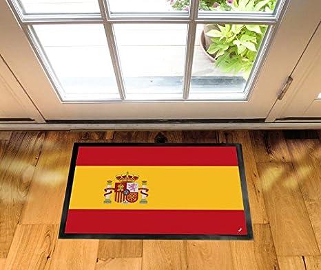 1art1 España - Banderas del Mundo Felpudo Alfombra (70 x 50cm): Amazon.es: Hogar