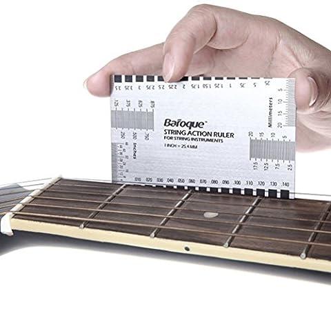 Pixnor String Action Ruler Gauge Tool for Guitar Bass (Guitar / Bass)