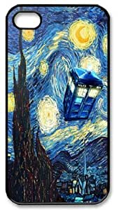 meilz aiaiTardis Doctor Who Starry Night Iphone 4 4s Case Cover ,Apple Plastic Shell Hard Case Cover Protector Gift Idea Fell Happy Store'smeilz aiai