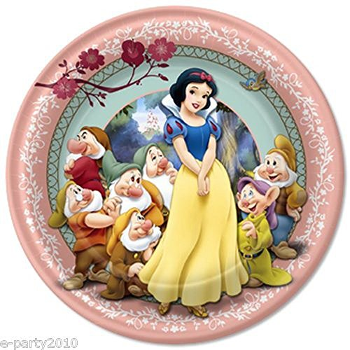 Snow White and the Seven Dwarfs Large Paper Plates ()