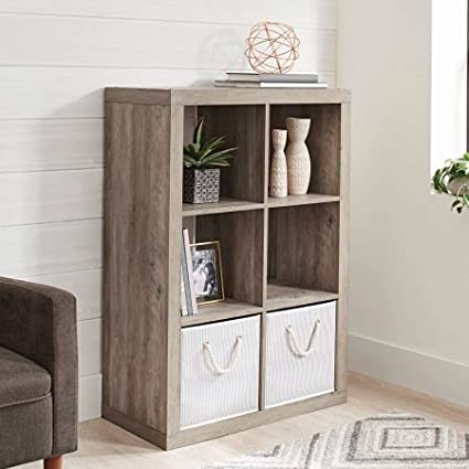 Amazon Com Better Homes And Gardens 6 Cube Organizer Rustic Gray Kitchen Dining