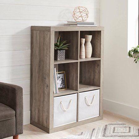 Better Homes and Gardens 6-Cube Organizer, Rustic Gray from Better Homes & Gardens