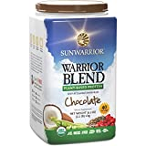 Sunwarrior - Warrior Blend, Raw, Plant-Based Protein, Chocolate, 40 Servings (2.2 lbs)