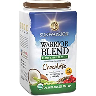Sunwarrior - Warrior Blend, Raw, Plant-Based Protein, Chocolate, 40 Servings (2.2 lbs) (FFP) (B00H7SH1SC) | Amazon price tracker / tracking, Amazon price history charts, Amazon price watches, Amazon price drop alerts