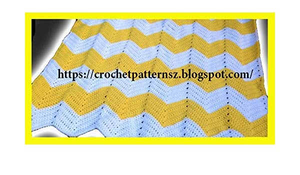 Crochet Patterns: crochet baby blanket zigzag stitch 2464/ How To
