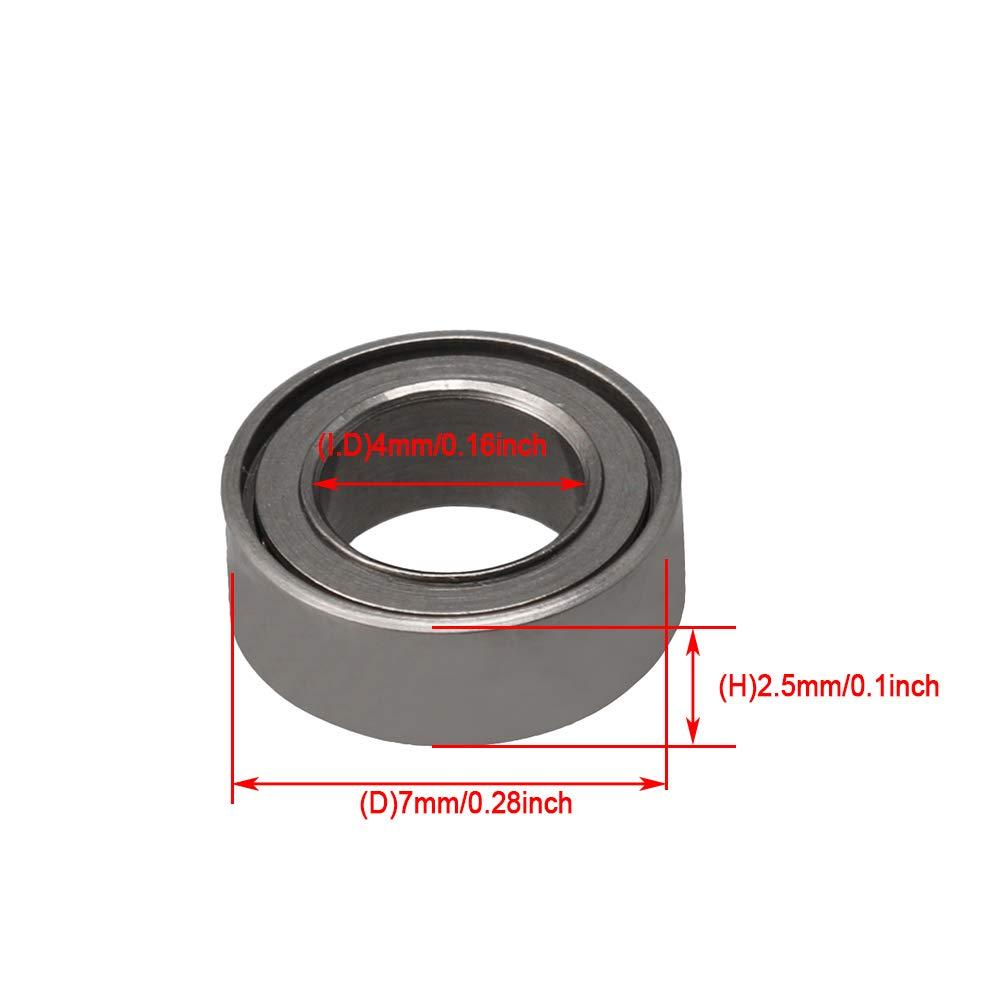 3x8x3mm Lager Stahl Metall Miniatur Mini Kugellager Micro Bearings MR83ZZ Packung von 10 St/ück