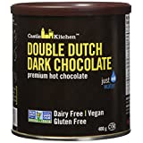 Castle Kitchen Double Dutch Premium Dark Hot Chocolate Mix - Vegan, Plant Based, Gluten Free, Dairy Free, Non-GMO Project Verified, Kosher, Just Add Water - 400g