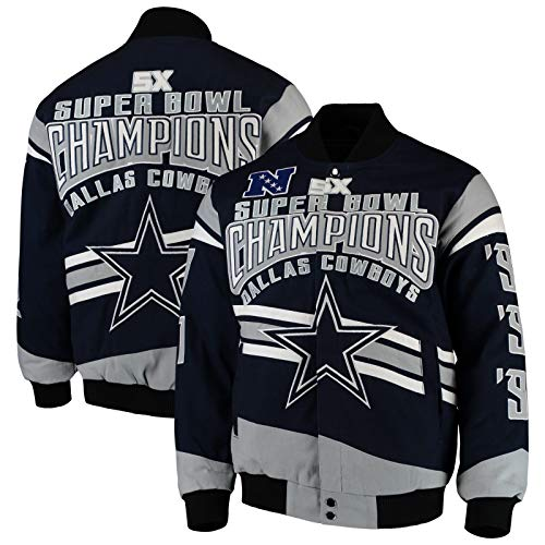 - Dallas Cowboys Cotton Twill Jacket Navy, Large