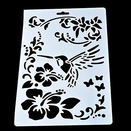 Durable modeling souarts motif fleur oiseau marque page - Modele dessin fleur ...