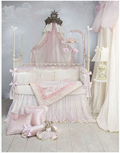 Anastasia Cream 3 Piece Baby Crib Bedding Set by Glenna Jean