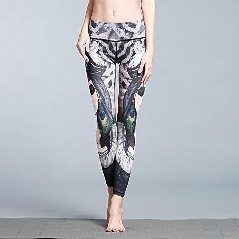 Super Suave Estampado de Mujer Leggings Elásticos de Cintura Alta ...