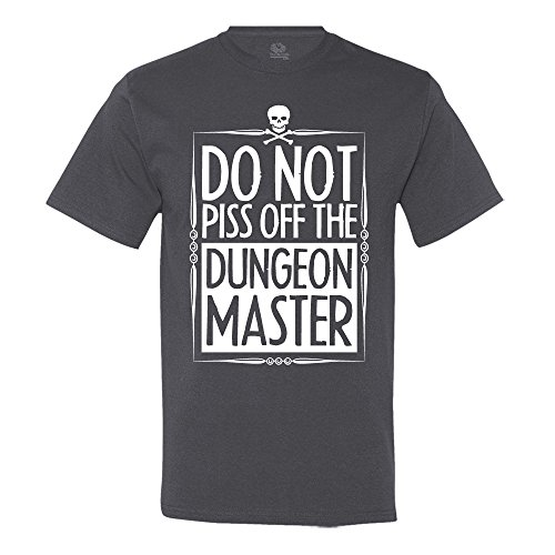 (Do Not Piss Off The Dungeon Master D&D T-Shirt Large Charcoal Grey)