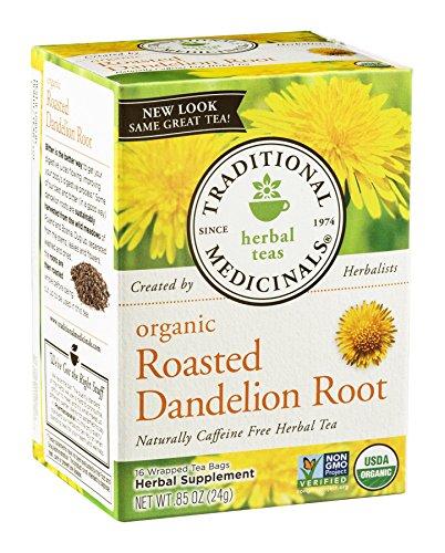 Roasted Dandelion Root Tea - 16 Count - Pack of 1, 0.85 oz (Lemon And Ginger Tea Good For Pregnancy)