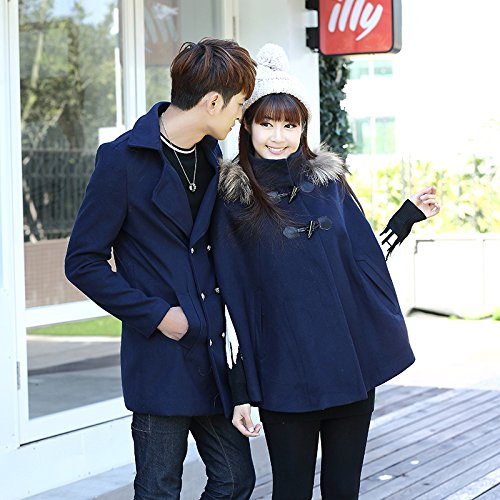 Is sapphire A Women'S Couple Winter Collections blue Cloak Yards Jacket Windbreaker Wool Fall Big Winter The 5166 Autumn Coat Xuanku Odn6UxU0