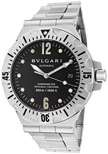 Bulgari Men's Diagono Professional Acqua Mechanical/Automatic Black Dial Stainless Steel