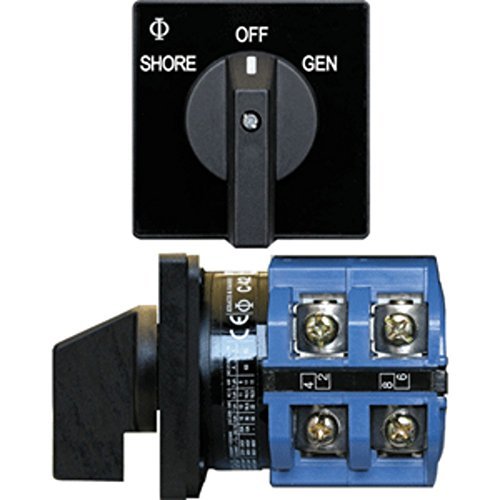Blue Sea 9011 Switch, AV 120VAC 65A OFF +2 Positions (Blue Sea 9011 Switch)