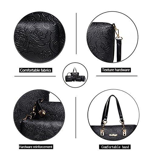 held 6 Handbag Bag Hand Fashion Messenger Tisdaini Bag Embossed Wallet Women's Bag Shoulder Black Piece x8EqWaYW