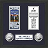 "NFL Seattle Seahawks Sb Championship Ticket Collection, Bronze, 18 "" x 14"" x 3"""