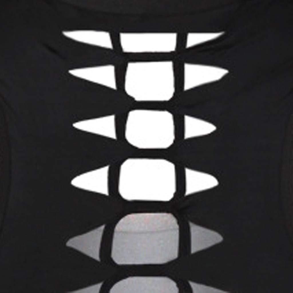 Jeramery Women's Casual Sleeveless Tops O-Neck 3D Printed Cat Cutout Back Tank Summer Loose Tunic Tee Shirt Blouse Tops Black by Jeramery shirt (Image #4)