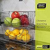 Smart Design Stacking Baskets Organizer w/ Handle