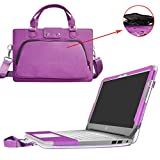 """HP Chromebook 14 Case,2 in 1 Accurately Designed Protective PU Leather Cover + Portable Carrying Bag For 14"""" HP Chromebook 14 14-ak000 14-x000 Series / Chromebook 14 G4 Laptop,Purple"""