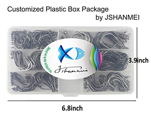JSHANMEI 150pcs Box Circle Hooks