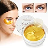 Natural Gold Gel Eye Mask, Collagen Anti-Aging Under Eye Patches, Reduce Wrinkles, Fine Lines, Puffiness, Crow's Feet, Dark Circles, Dryness by Puriderma a4