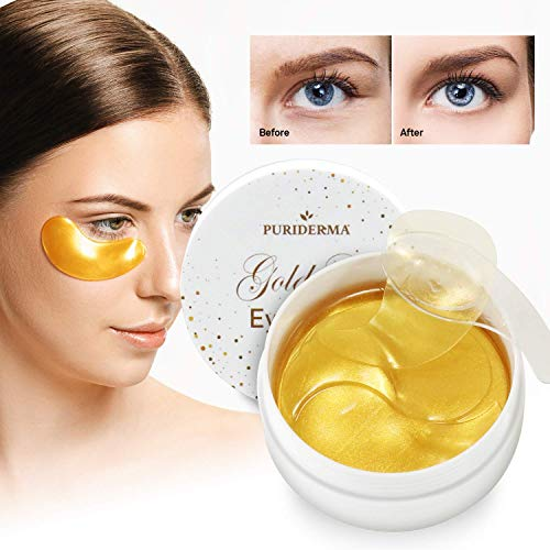 Natural Gold Gel Eye Mask, Collagen Anti-Aging Under Eye Patches, Reduce Wrinkles, Fine Lines, Puffiness, Crow's Feet, Dark Circles, Dryness by Puriderma (4) (Purederm Collagen Eye)