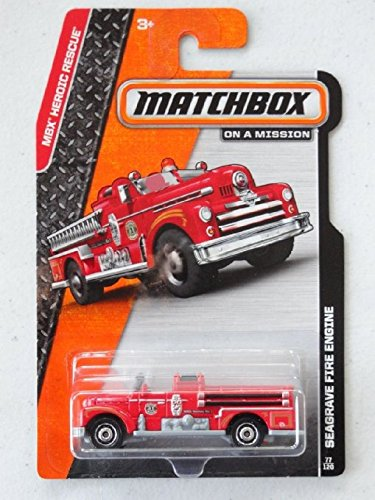 2014 Matchbox MBX Heroic Rescue - Seagrave Fire Engine (Vintage Fire Engine)