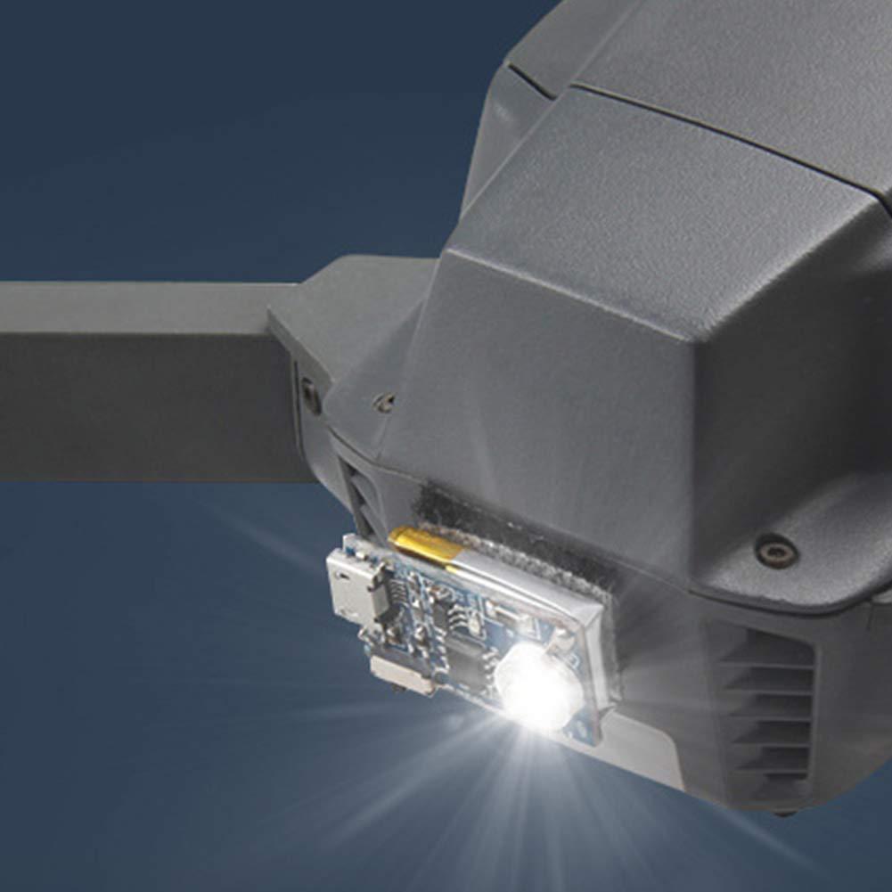 L/ámpara estrobosc/ópica con Flash Drone l/ámpara estrobosc/ópica con Flash de Repuesto para Vuelo Nocturno para dji Spark