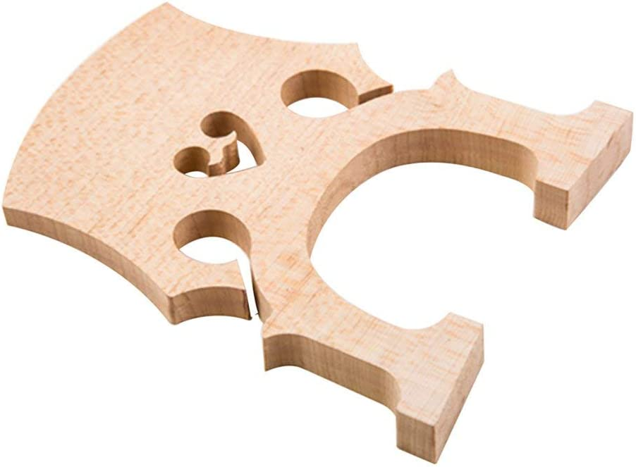 Mandalaa 1 Pc Exquisite Cello Bridge 1//2 Top Quality Maple Wood Professional Cello Accessories