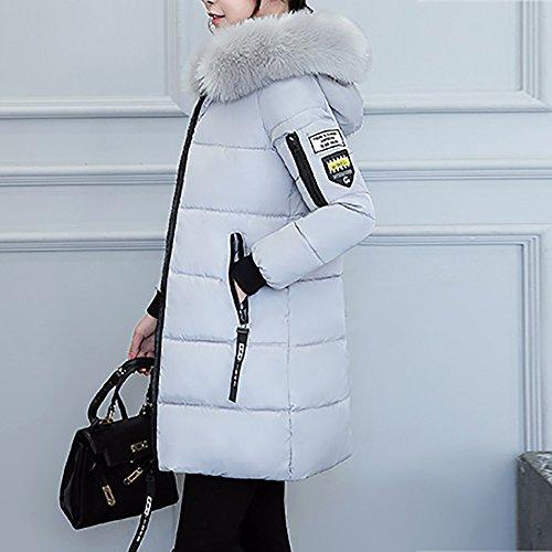 Vêtements 3xl Moyen Rembourré En Des Femmes Manteau Veste long Chaud Dogzi Plus Coton Épais Gris Anorak ~ Hiver Élégant Porter M wBdnH0x504