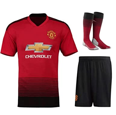 the latest a2eba f6b4d LISIMKE Soccer Team 2018/19 Manchester United Home Mens Replica  Jersey:Jersey&Shorts Kid Youth Replica Jersey Kit