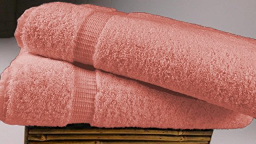 2 Bath Sheets Sets (Turkish Luxury Hotel & Spa 35x70 Bath Sheet Set of 2, Turkish Cotton, Organic, Eco-Friendly,)