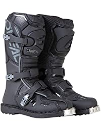 0332-103 Unisex-Child Dirtbike Boots (Black, 3)